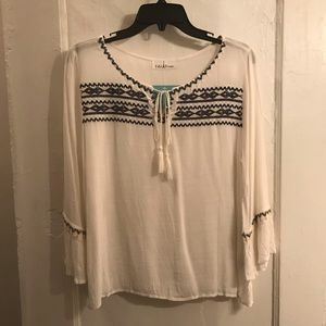 Eiffel Designs Boho Embroidered Top